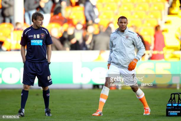 Blackpool's Matthew Phillips and new assistant coach Ashley Westwood