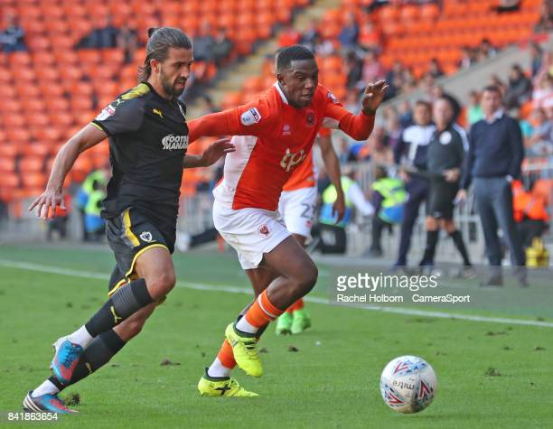 Blackpool's Viv SolomonOtabor during the Sky Bet League One match between Blackpool and AFC Wimbledon at Bloomfield Road on September 2 2017 in...