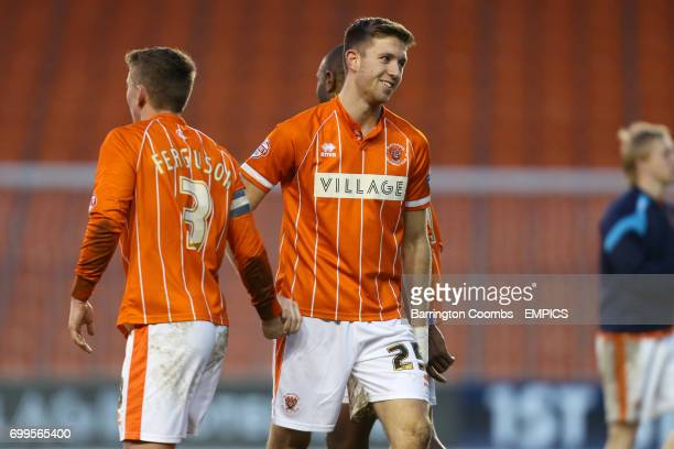 Blackpool's Will Aimson celebrates after the final whistle