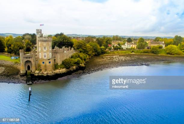 Blackrock castle aerial view, Cork city, Ireland