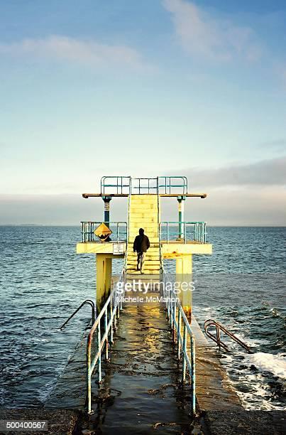 blackrock diving platform - blackrock stock pictures, royalty-free photos & images