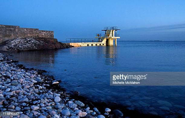 blackrock diving platform, salthill - blackrock stock pictures, royalty-free photos & images