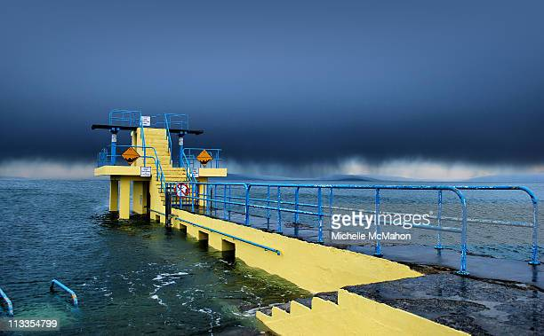 blackrock diving tower - blackrock stock pictures, royalty-free photos & images