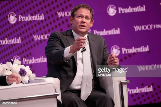 BlackRock Global Chief Investment Officer of Fixed Income Rick Rieder speaks onstage at the Yahoo Finance All Markets Summit on October 25 2017 in...