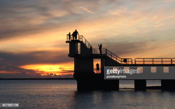 blackrock sunset on the wild atlantic way - galway stock pictures, royalty-free photos & images