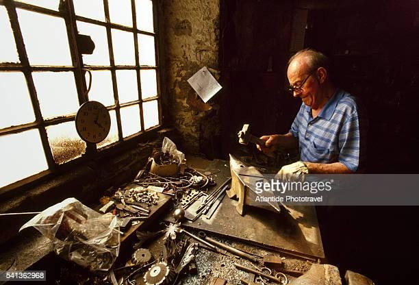 Blacksmith Luciano Savi Working in Grazzano Visconti