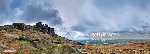 180 blackstone edge panorama - simon higginbottom stock pictures, royalty-free photos & images