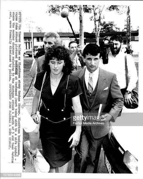 Blacktown businessman Wayne John Attard pictured at Westmead court today with his wife Lyndal where the murder charges relating to the shotgun attack...