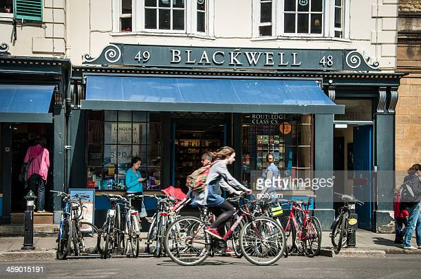 blackwell bookshop oxford - oxford england stock pictures, royalty-free photos & images