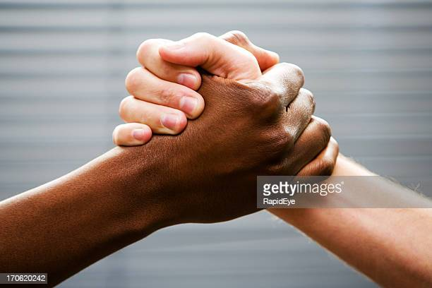 black-white arm wrestling - black civil rights stock pictures, royalty-free photos & images