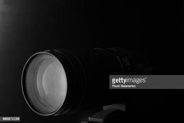 Black&white photo of prime macro lens