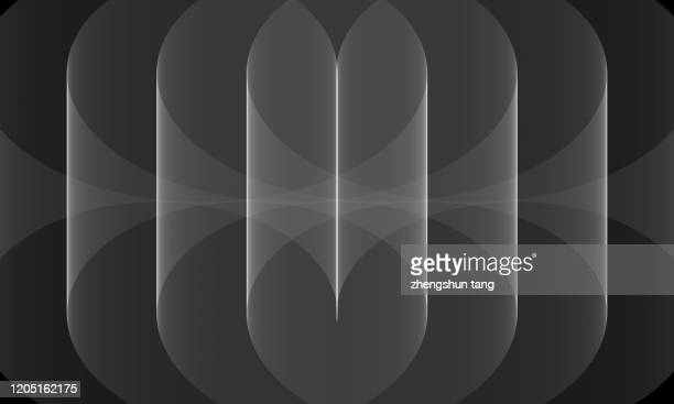 black&white symmetry curves background - symmetry stock pictures, royalty-free photos & images