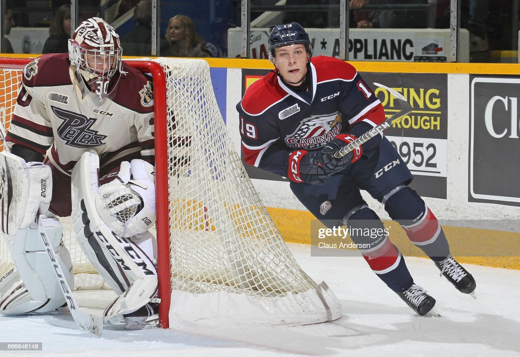 Saginaw Spirit v Peterborough Petes : News Photo