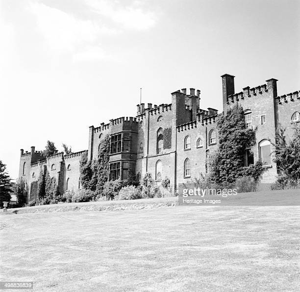 Bladen Castle rear view near Burton on Trent Derbyshire c1960s1970s Bladen Castle is a red brick crenellated building perched high on Bladen Hill at...