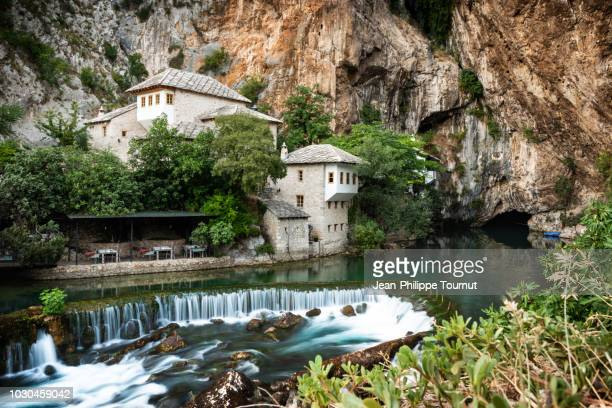 Blagaj Tekija, Peaceful Dervish Monastery by the Source of Buna River in Blagaj, Bosnia and Herzegovina