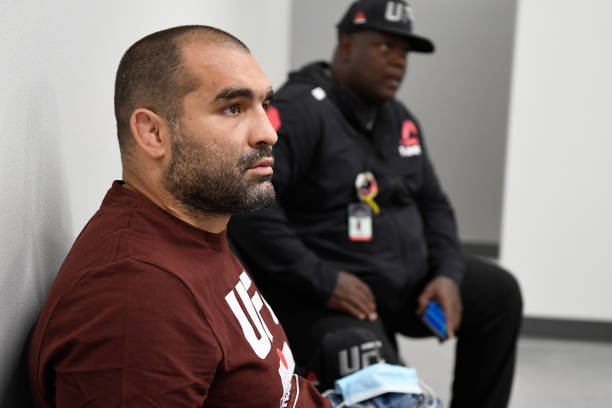 Blagoy Ivanov of Bulgaria waits backstage during the UFC Fight Night event at UFC APEX on May 30, 2020 in Las Vegas, Nevada.