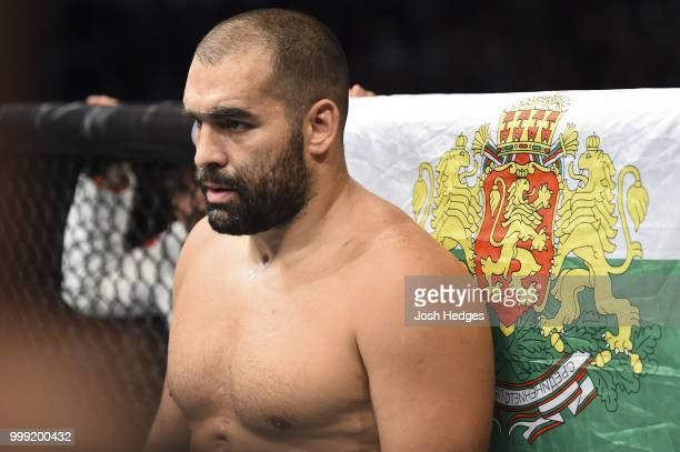 Blagoy Ivanov stands in his corner before facing Junior Dos Santos of Brazil in their heavyweight fight during the UFC Fight Night event inside...