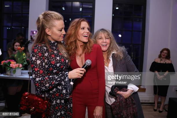 Blaike Lively Robyn Lively and Elaine Lively attend the L'Oreal Paris Paints Colorista launch event at West Edge on February 13 2017 in New York City