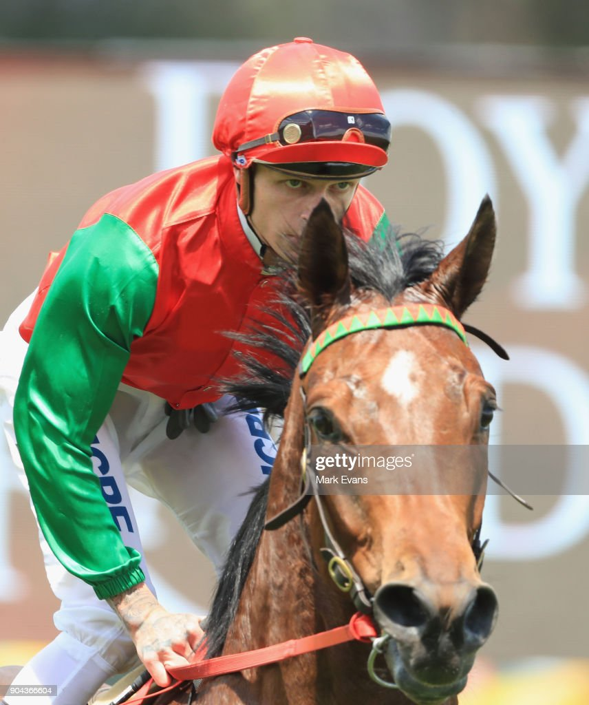 Blaike McDougall on Tip Top returns to scale after winning race 4 during Sydney Racing at Royal Randwick Racecourse on January 13, 2018 in Sydney, Australia.