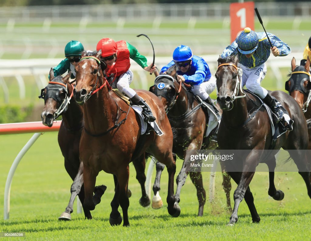 Blaike McDougall on Tip Top wins race 4 during Sydney Racing at Royal Randwick Racecourse on January 13, 2018 in Sydney, Australia.