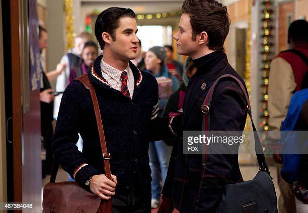 Blaine and Kurt share a moment in the Extraordinary Merry Christmas episode of GLEE airing Tuesday Dec 13 on FOX