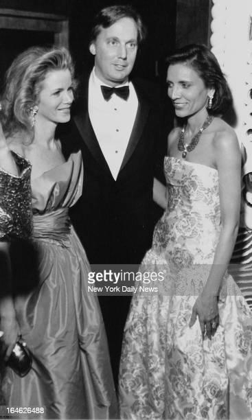 Blaine and Robert Trump with Usha Singh