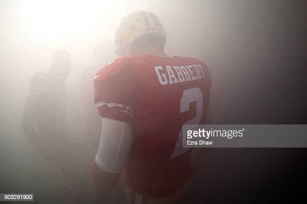 Blaine Gabbert of the San Francisco 49ers stands in the tunnel prior to their NFL game against the St Louis Rams at Levi's Stadium on January 3 2016...