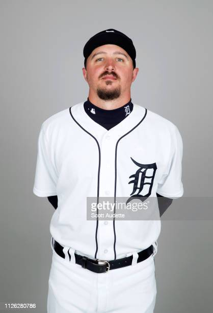 Blaine Hardy of the Detroit Tigers poses during Photo Day on Tuesday February 19 2019 at Publix Field at Joker Marchant Stadium in Lakeland Florida
