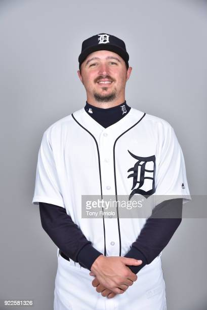Blaine Hardy of the Detroit Tigers poses during Photo Day on Tuesday February 20 2018 at Publix Field at Joker Marchant Stadium in Lakeland Florida