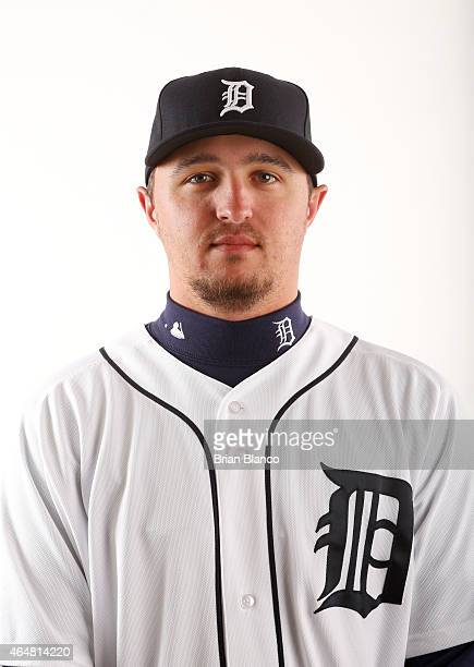 Blaine Hardy of the Detroit Tigers poses for a photo during the Tigers' photo day on February 28 2015 at Joker Marchant Stadium in Lakeland Florida