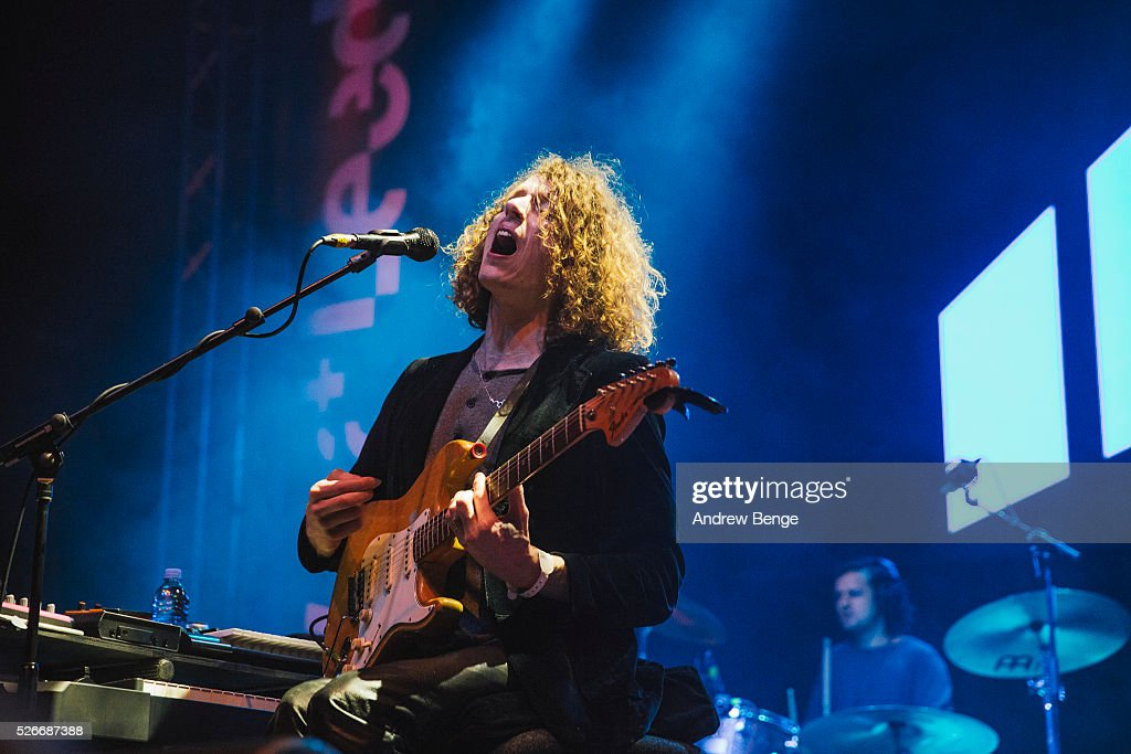 Blaine Harrison of Mystery Jets performs at O2 Academy during Live At Leeds on April 30, 2016 in Leeds, England.