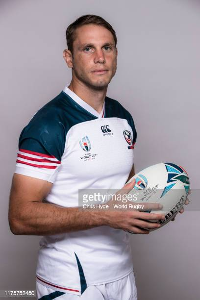 Blaine Scully of The United States poses for a portrait during the the USA Rugby World Cup 2019 squad photo call on September 19 2019 in Yomitan...