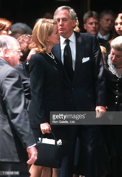 Blaine Trump and Robert Trump during Fred Trump's Funeral at Marble Collegiate Church in New York City New York United States