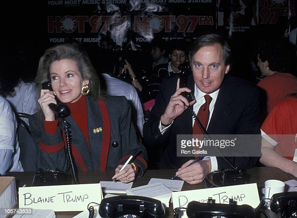 Blaine Trump during 2nd Annual Hot 97 FM AIDS Telethon March 7 1989 at The Palladium in New York City New York United States