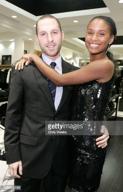 Blaine Zuckerman and Joy Bryant during Club Monaco Hosts Cashmere and Cocktails at Club Monaco in Beverly Hills CA United States