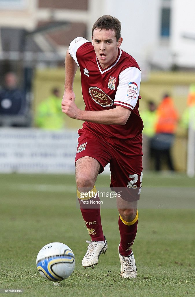Blair Adams of Northampton Town in action during the npower League Two match between Torquay United and Northampton Town at Plainmoor on January 28, 2012 in Torquay, England.