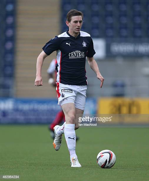 Blair Alston of Falkirk controls the ball during the Pre Season Friendly match between Falkirk and Rotherham United at The Falkirk Stadium on July 18...