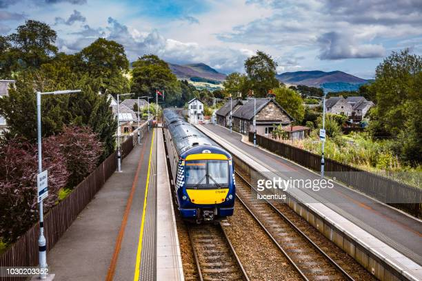 blair atholl railway station, scotland - station stock pictures, royalty-free photos & images