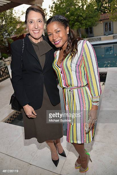 Blair Berk and Shani James attend a reception to celebrate Rashida Jones' New Glamour Column hosted by Cindi Leive and Jane Buckingham at arivate...