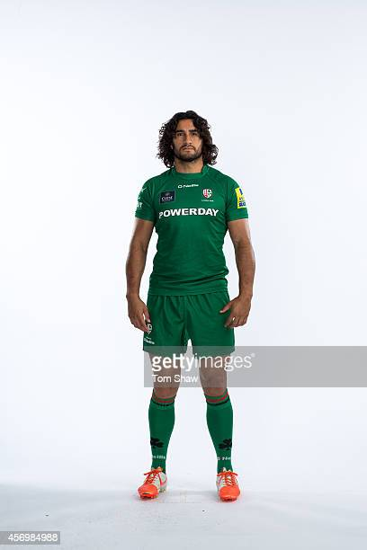 Blair Cowan of London Irish poses for a picture during the BT PhotoShoot at Sunbury Training Ground on August 27 2014 in Sunbury England