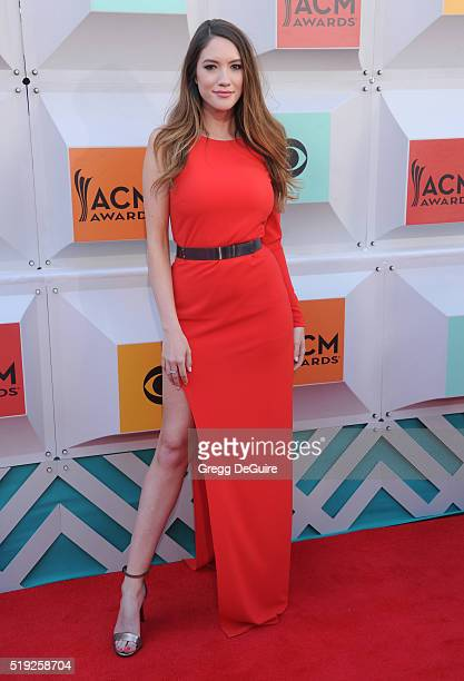 Blair Fowler arrives at the 51st Academy Of Country Music Awards at MGM Grand Garden Arena on April 3 2016 in Las Vegas Nevada