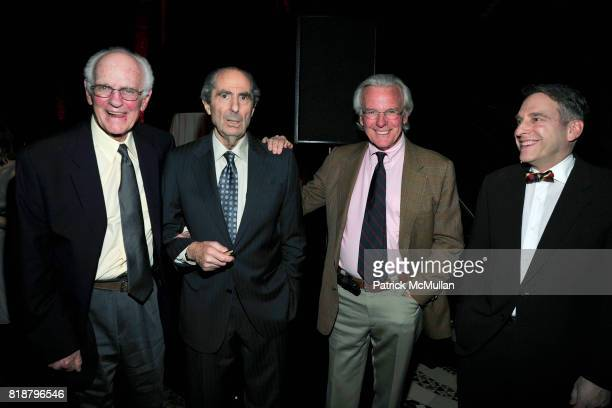 Blair Fuller Philip Roth Nelson W Aldrich Jr and Benjamin Taylor attend PARIS REVIEW BOARD OF DIRECTORS REVEL 2010 at Cipriani on April 13 2010 in...
