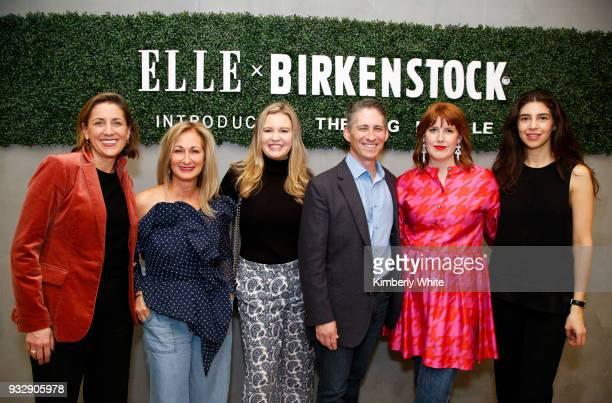Blair Hecht Lori Kahan Charlotte Miller David Kahan Kate Bellman and Sarah Zendejas attend the ELLE and Birkenstock Launch Exclusive PopUp Shop at...