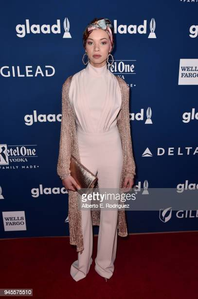 Blair Imani attends the 29th Annual GLAAD Media Awards at The Beverly Hilton Hotel on April 12 2018 in Beverly Hills California