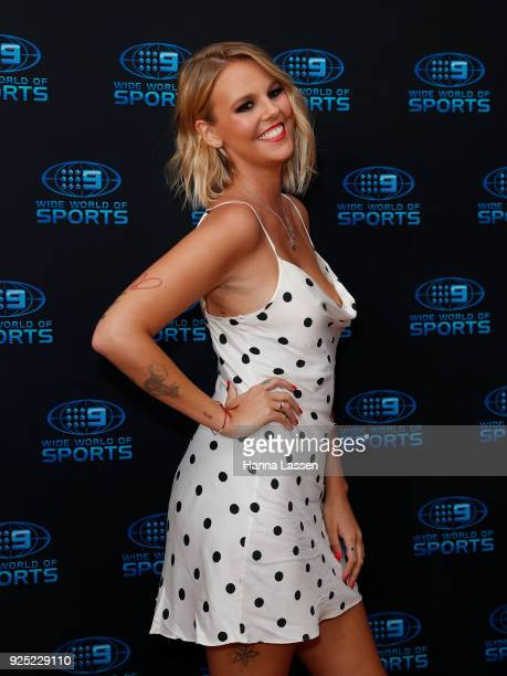 Blair Rachel attends the Nine Network 2018 NRL Launch at the Australian Maritime Museum on February 28 2018 in Sydney Australia