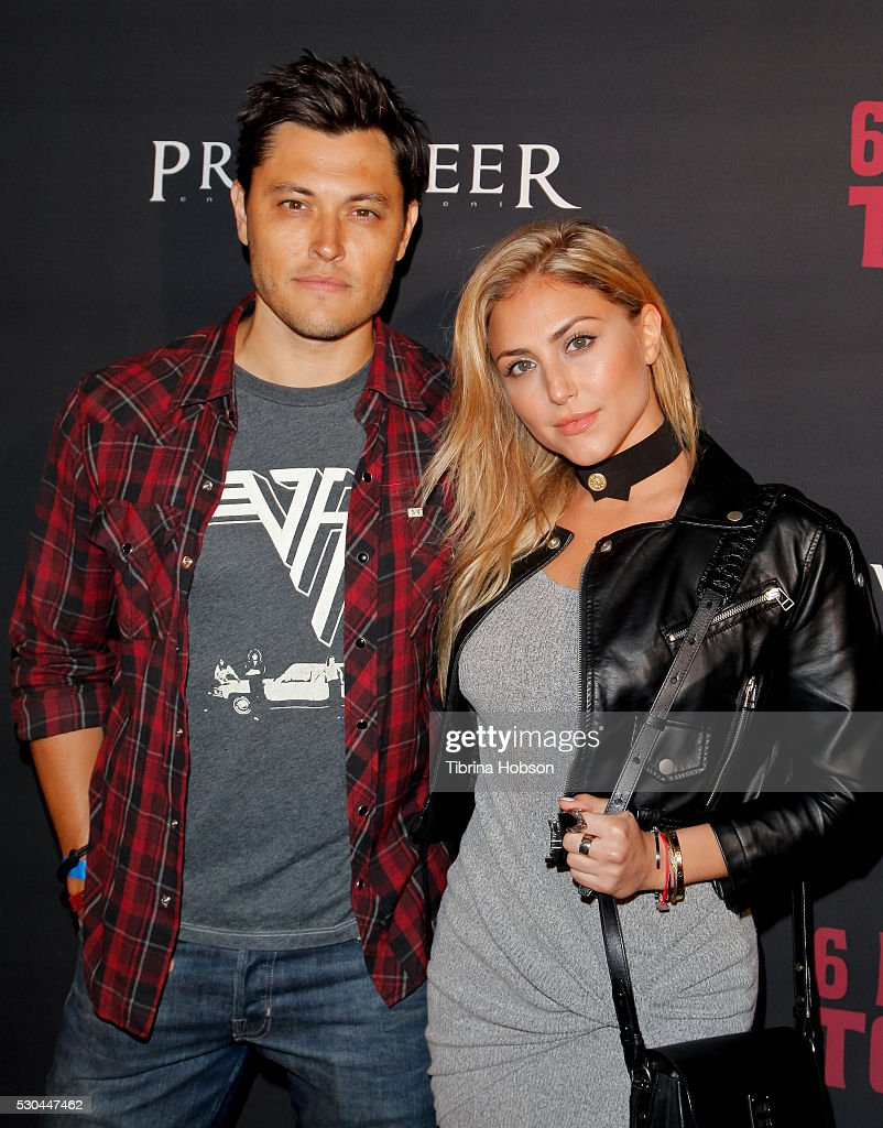Blair Redford and Cassie Scerbo attend the launch of '6 Bullets To Hell' on May 10, 2016 in Los Angeles, California.