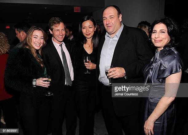 Blair Rich director Spike Jonze Deborah Lin actor James Gandolfini and Sue Kroll President of Worldwide Marketing for Warner Brothers attend the...