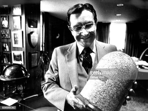 Blair shows glass container with $1 million in shredded U S currency given to him by friends who suggested he use it pay back creditors Credit Denver...