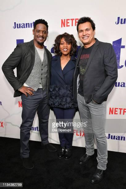 Blair Underwood Alfre Woodard and Adam Beach attend the 'Juanita' New York screening at Metrograph on March 07 2019 in New York City