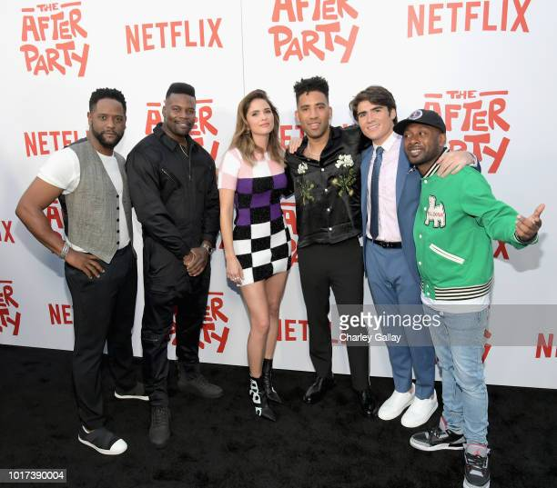 Blair Underwood Amin Joseph Shelley Hennig Kyle Harvey Harrison Holzer and Jordan Rock attend Netflix's 'The After Party' special screening on August...